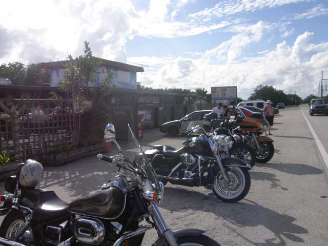 Motorcycles at Alabama Jack's in Key Largo, Florida @BigMill | www.chloesblog.bigmill.com/keysy-bars-of-the-florida-keys-part-two