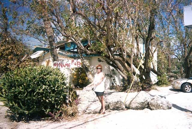 Chloe at No Name Pub in Big Pine Key
