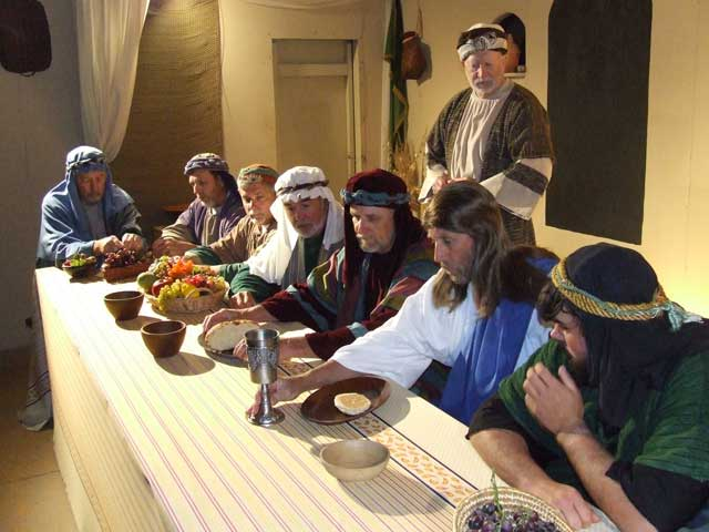 Outdoor drama photo of Last Supper at Message of Easter