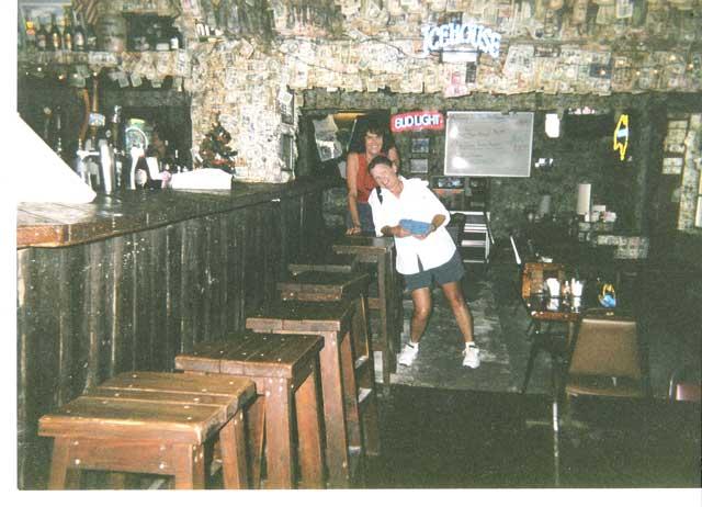 Chloe and Joy at the No Name Pub in Big Pine Key Florida
