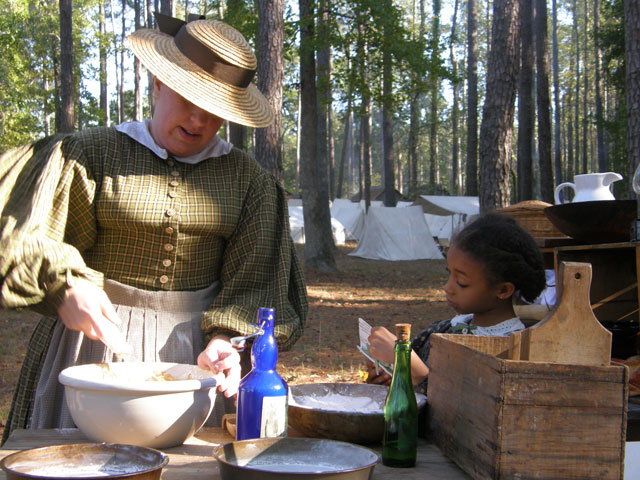 Life in the camp at Ft. Branch in eastern North Carolina circa 1862