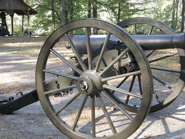 Civil war canon found in the Roanoke River