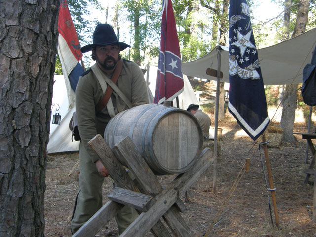Confederate Flags at the reenactment in Hamilton, NC