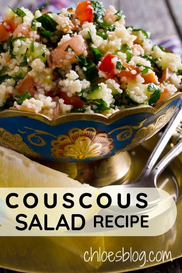 Couscous Salad Recipe - It\'s Tasty and Vegan