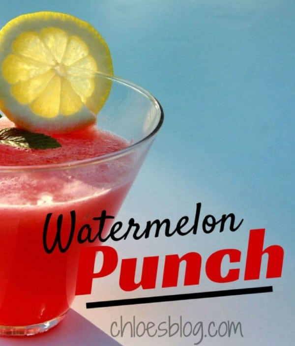 Watermelon Punch Recipe is the perfect thing to serve for summer parties @BigMill | www.chloesblog.bigmill.com/watermelon-punch-in-the-summertime-at-big-mill r summer parties |