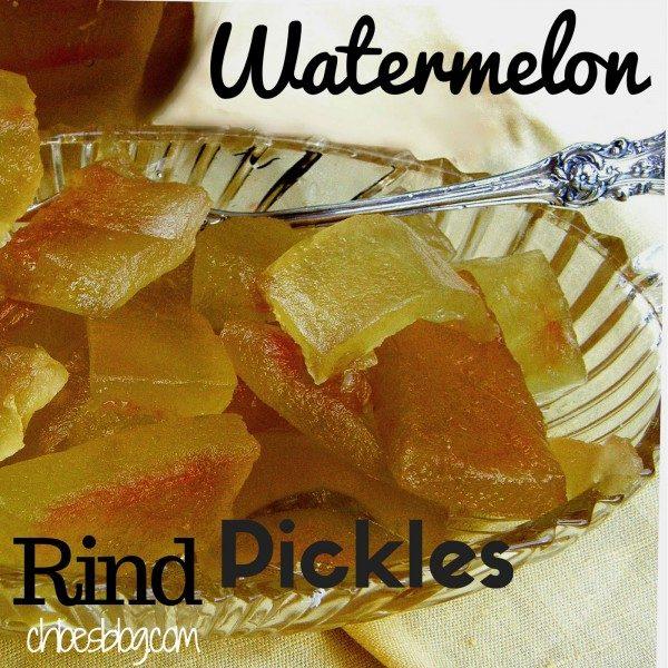 Secret Recipe for Watermelon Rind Pickles | https://chloesblog.bigmill.com/watermelon-rind-pickles-secret-recipe/