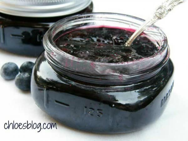 Photo of award-winning blueberry jam