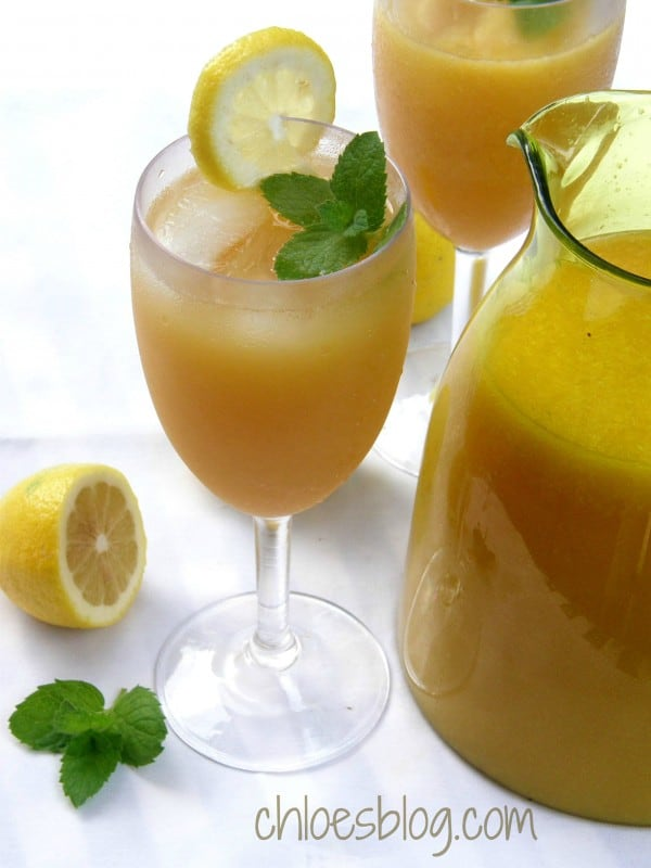 This pretty citrus punch is a real crowd pleaser - Big Mill Bed and Breakfast guests love it. Recipe on Chloes Blog | @BigMill | www.chloesblog.bigmill.com/summer-punch-recipe-nc-bed-breakfast