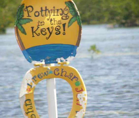 Toilet Seat Cut through the Mangroves in the Keys | https://chloesblog.bigmill.com/toilet-seats-the-innkeeper-recollects/