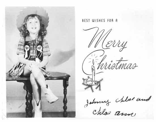 Christmas card from Chloe Ann