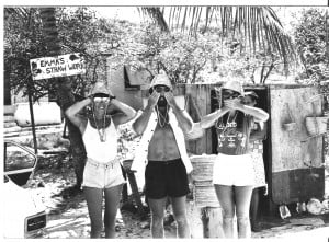 Chloe, Joe and Joy in the Bahamas