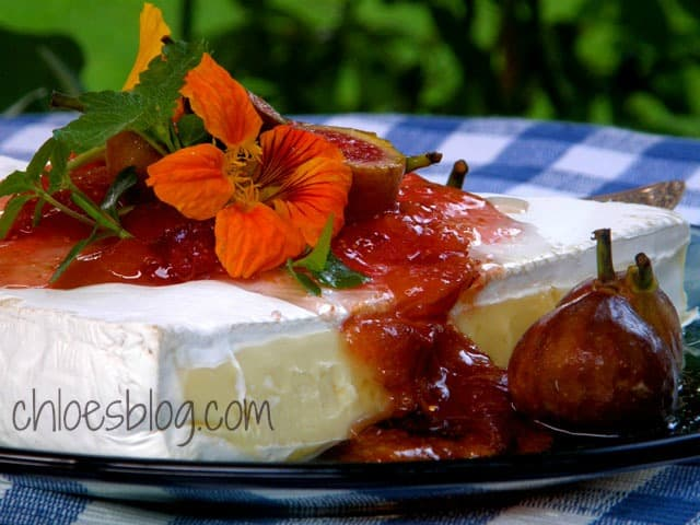 Fig Preserves & Creamy Brie Recipe from Chloe at Big Mill B&B | chloesblog.com