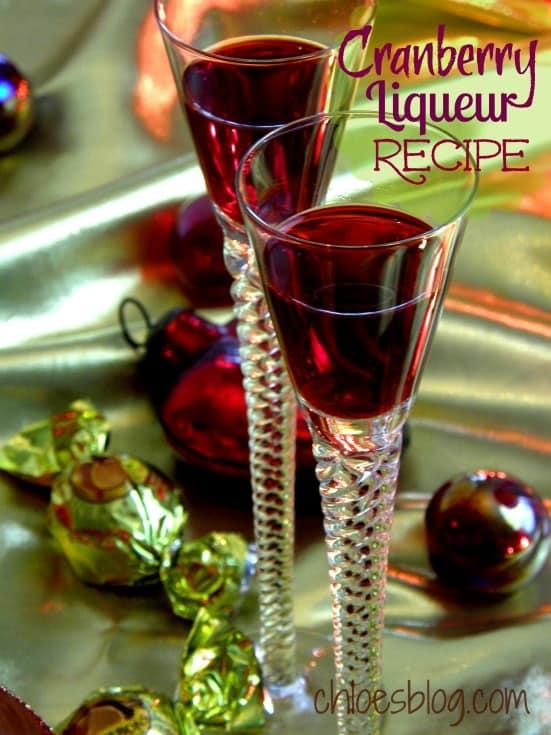 Cranberry Liqueur perfect for the Holidays | chloesblog.bigmill.com