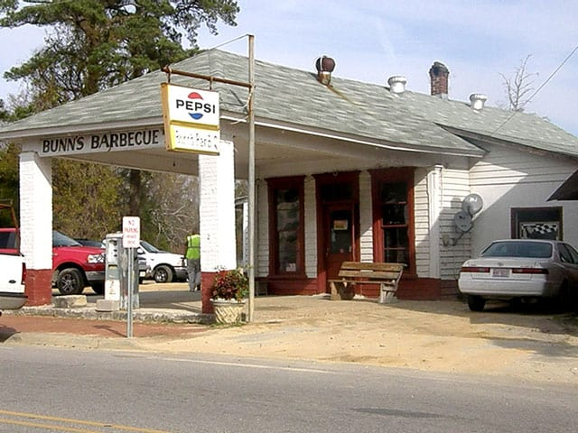 Road Food in Eastern NC - Bunn's Barbecue since 1938