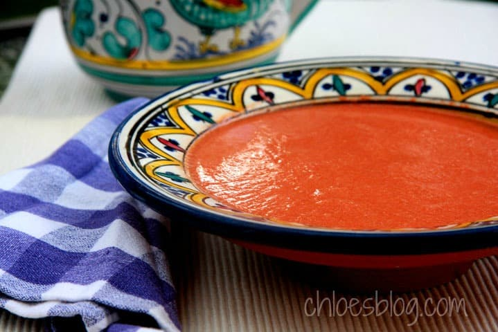 Gazpacho - fresh tomatoes for refreshing summer taste from Big Mill B &B | chloesblog.bigmill.com