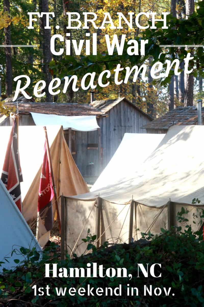 Glimpse what life as a Civil War Soldier was like in the Reenactment of the Battle of Ft. Branch near Hamilton, NC.