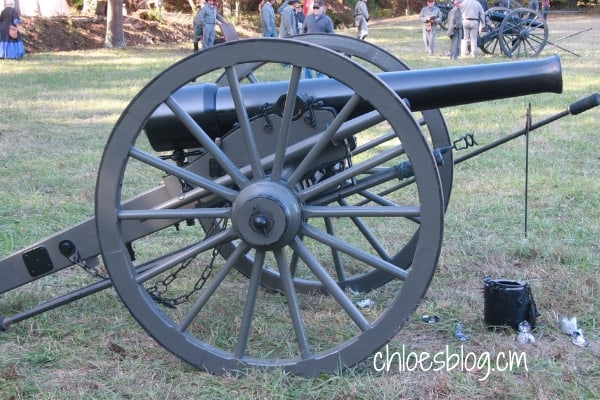 Photo of Civil War Canon at Battle of Ft. Branch reenactment in NC