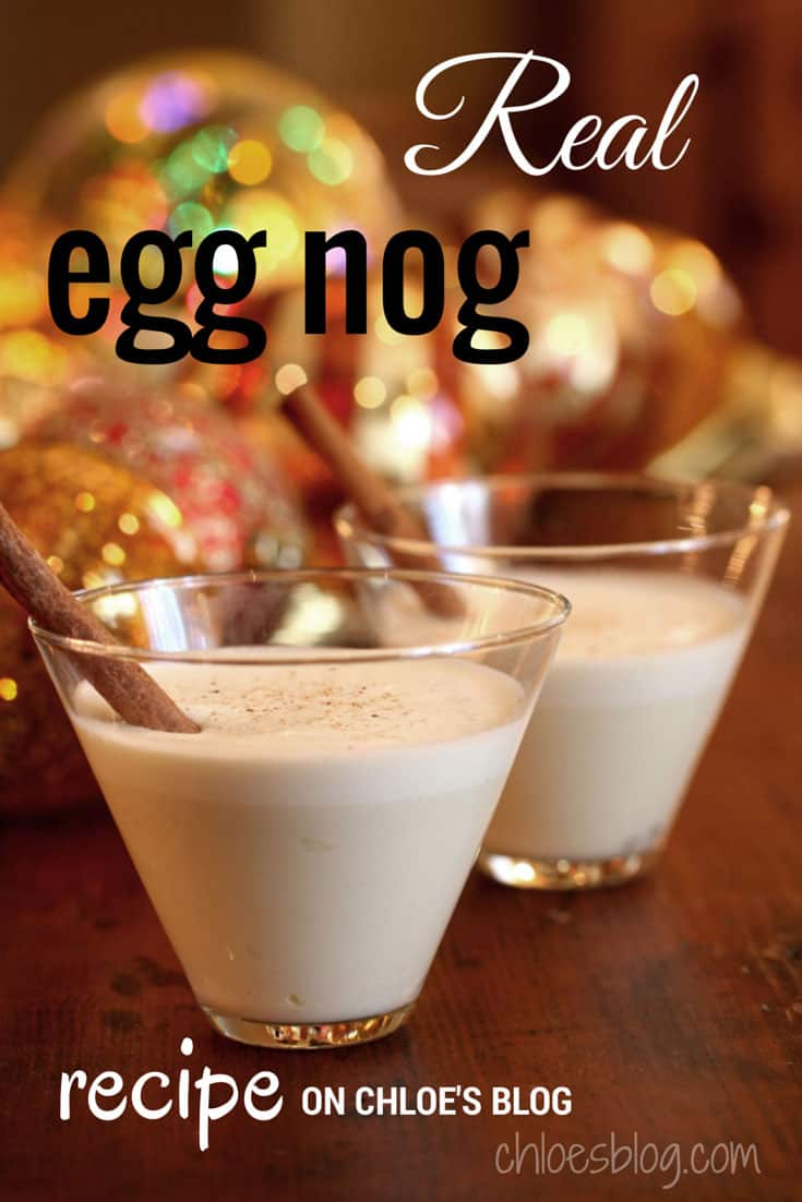 Homemade Eggnog Recipe with REAL eggs-it is safe and just about the BEST eggnog you have ever tasted. Make it 2-3 weeks early so that it steep in the liquor to kill any pathogens. #EggnogRecipe, # eggnog