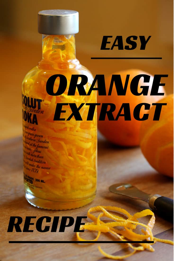 Orange Extract recipe makes great gifts for any baker. I make this for holiday gifts and it is so easy, quick and cheap to make. Great last minute gift! Quick and easy homemade Orange or lemon extract makes a great gift for the cook or bartender in your life.