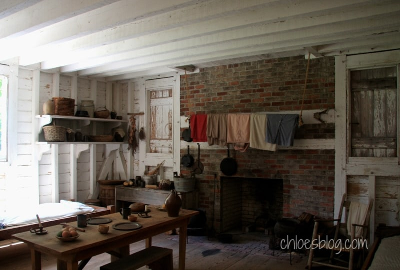 Inside a slave house at Somerset Place Plantation in eastern NC | https://chloesblog.bigmill.com/somerset-place-plantation/