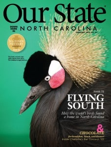 North Carolina's Our State Magazine cover featuring Birdman.