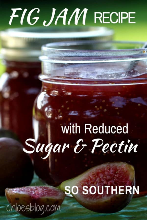 Get this reduced sugar Fig Jam recipe from the innkeeper at Big Mill B+B, near Greenville, NC. It features fresh figs picked from the farm bed and breakfast orchard. Recipe and complete directions for the Fig Jam and the link to a holiday favorite - Creamy Brie & Fig Preserves appetizer - are on Chloes Blog. @bigmill | www.chloesblog.bigmill.com/homemade-fig-jam-recipe-has-less-sugar
