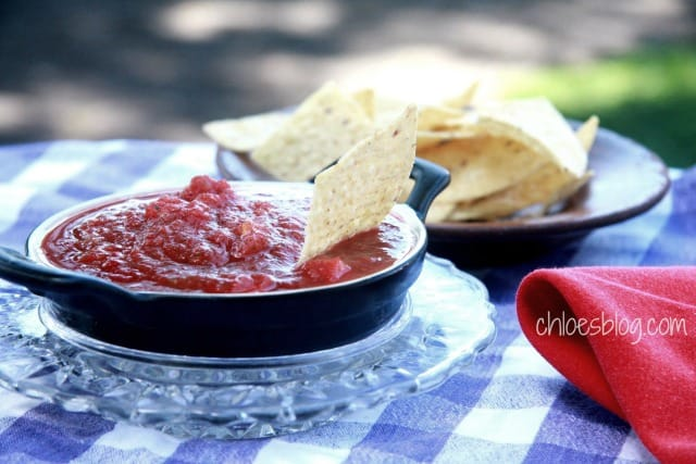Homemade Salsa recipe from innkeeper at Big Mill BB | https://chloesblog.bigmill.com/barneys-killer-salsa/