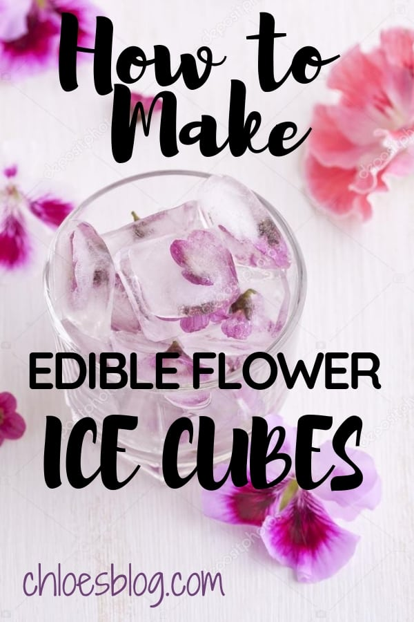 Edible Flowers for All Seasons - How to Make Edible Flower Ice Cubes