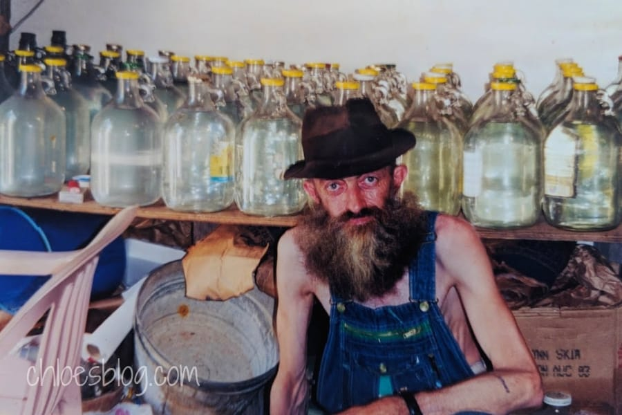Popcorn Sutton and his shop photo