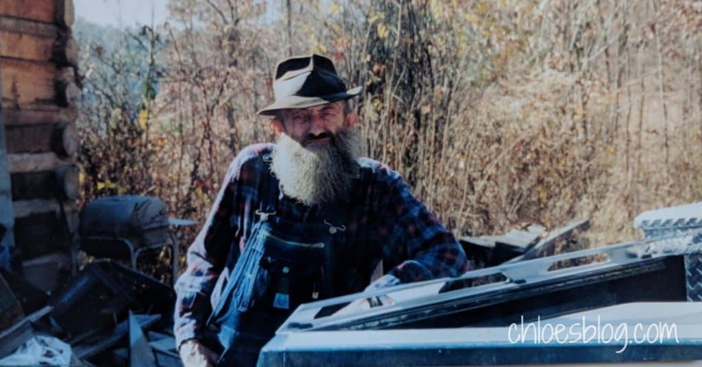 Popcorn Sutton and his car photo