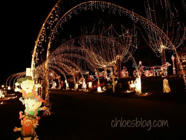 Magical Christmas lights in eastern NC for young and old | www.chloesblog.bigmill.com/christmas-lights-in-windsor-nc/