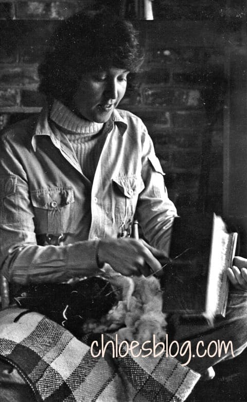 Chloe Tuttle spins wool in eastern North Carolina