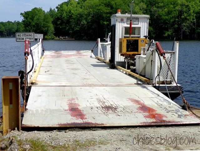 Sans Souci Ferry in Bertie County near Windsor, NC | chloesblog.com