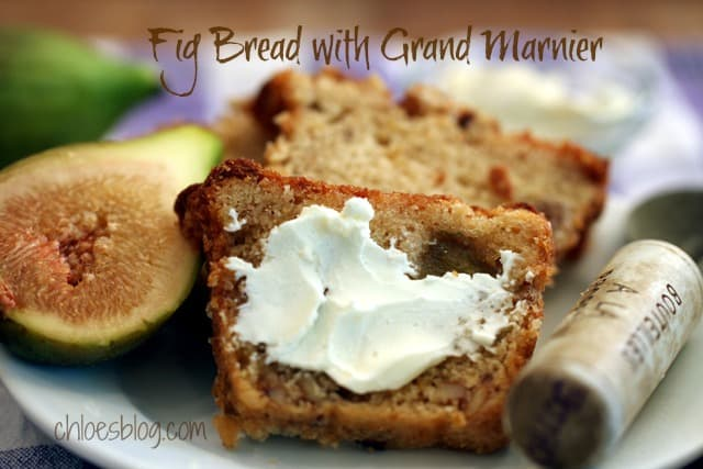Fig Bread Recipe with a Nip of Grand Marnier