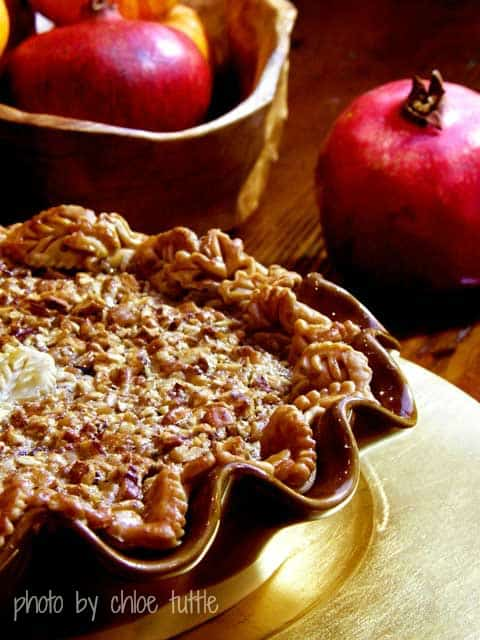 Pretty and tasty Bourbon Pecan Pie Recipe | chloesblog.bigmill.com