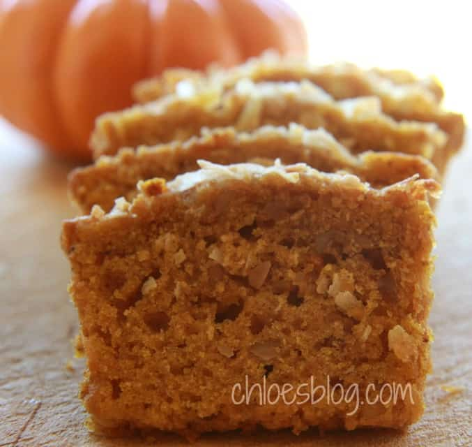 Tasty holiday Pumpkin Bread recipe | chloesblog.bigmill.com