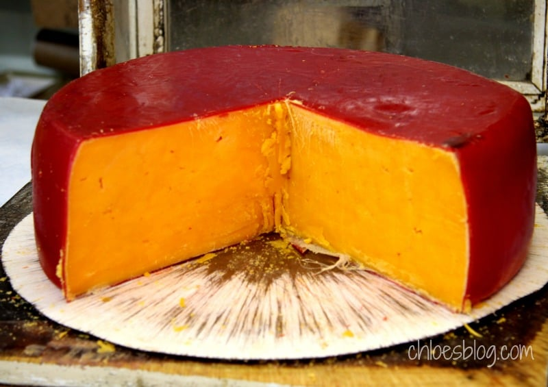 At Martin Supply Feed Store (in Williamston, NC) you can buy hoop cheese just like this. If you're ever there, be sure to ask for a sample. Delicious Southern hospitality. | chloesblog.com