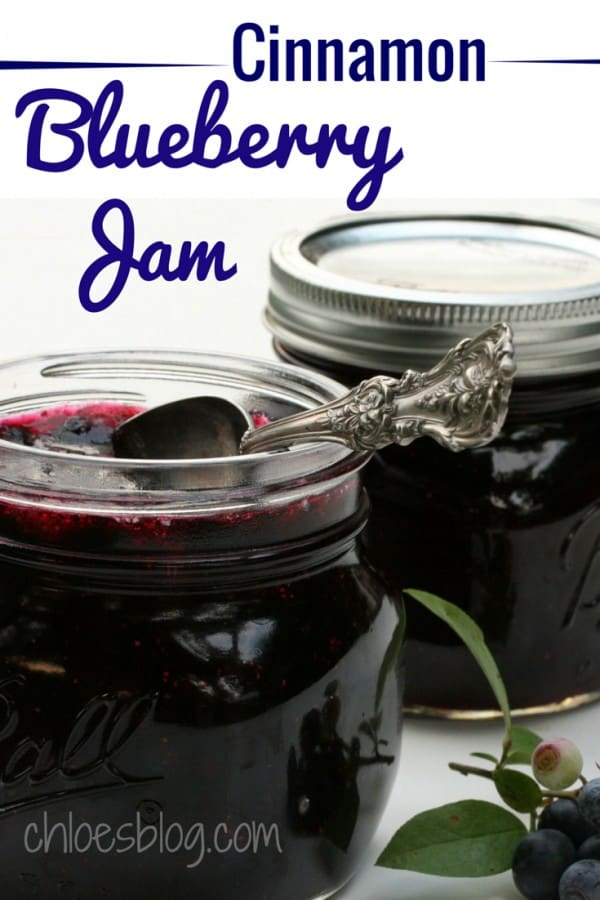 Make your own jam from fresh blueberries - never buy jam again! Easy Blueberry Jam recipe from NC innkeeper's blog adds two special ingredients that make this jam unforgettable. | www.chloesblog.bigmill.com/easy-blueberry-jam-recipe-with-cinnamon-lime-zest