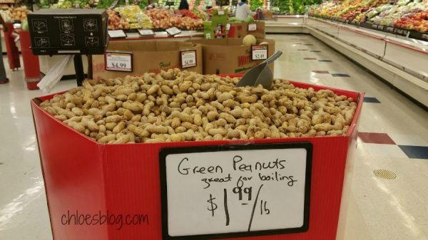 Raw Green Peanuts can be found in eastern NC in late summer near Big Mill B&B