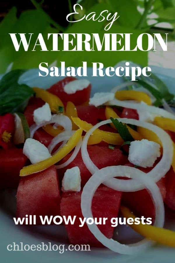 Try this Easy Watermelon Salad recipe at your next party or picnic -- your guests will love you for it.