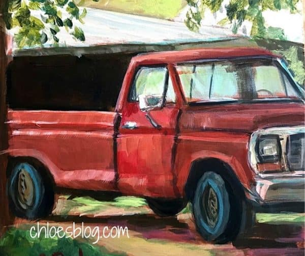 Photo of Old Red Truck at Big Mill B&B