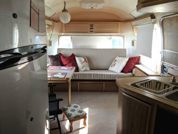 Inside of vintage Airstream