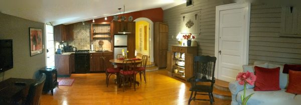 Renovated suite in Pack House at Big Mill Bed and Breakfast in eastern NC