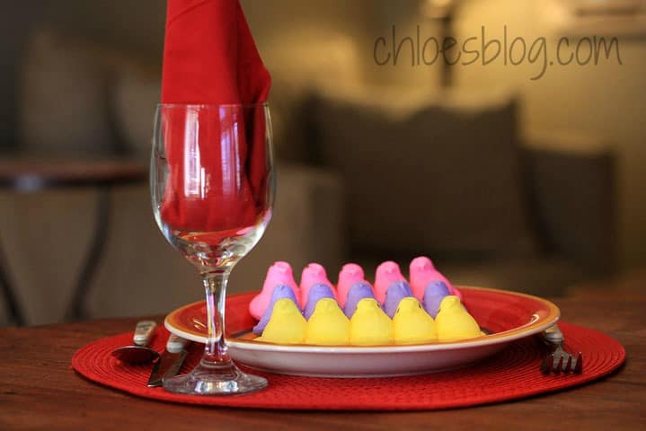 Peeps on rice krispies - recipe on Chloes Blog | https://chloesblog.bigmill.com/love-affair-with-peeps/