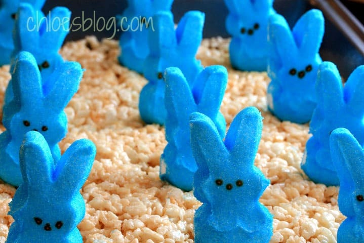 Rice Krispie Treats with Peeps recipe by Big Mill B&B innkeeper Chloe | https://chloesblog.bigmill.com/love-affair-with-peeps/