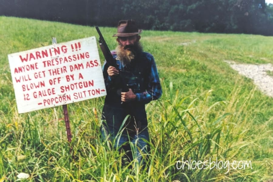 Popcorn Sutton in the NC mountains photo